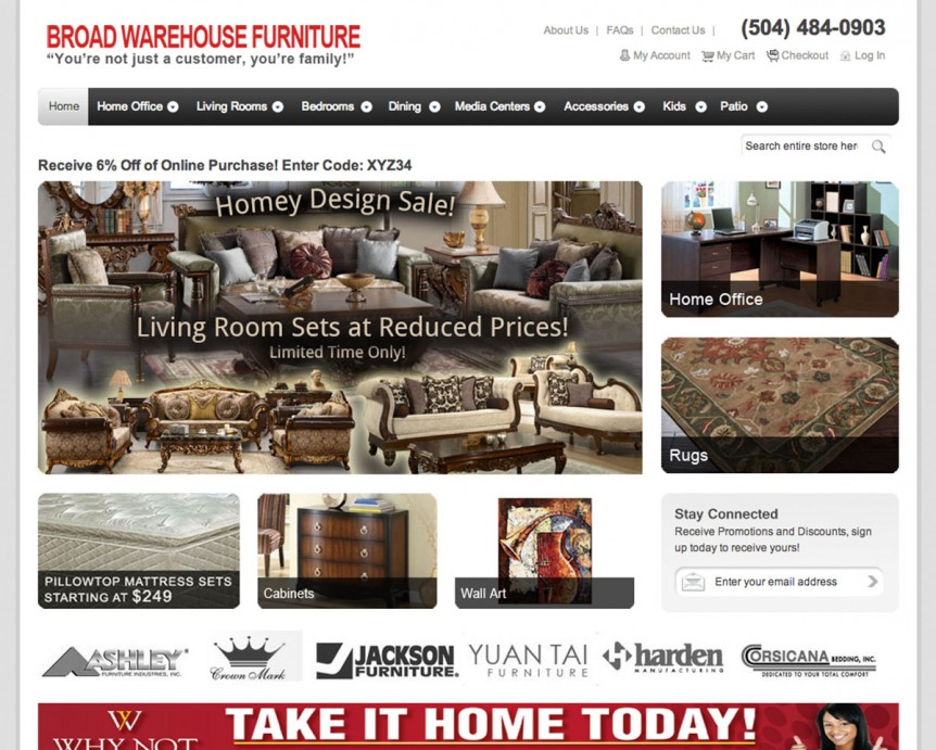 Broad Warehouse Furniture Website