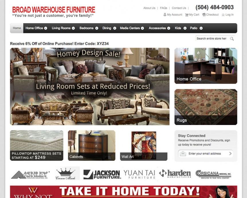 Broad Warehouse Furniture Website