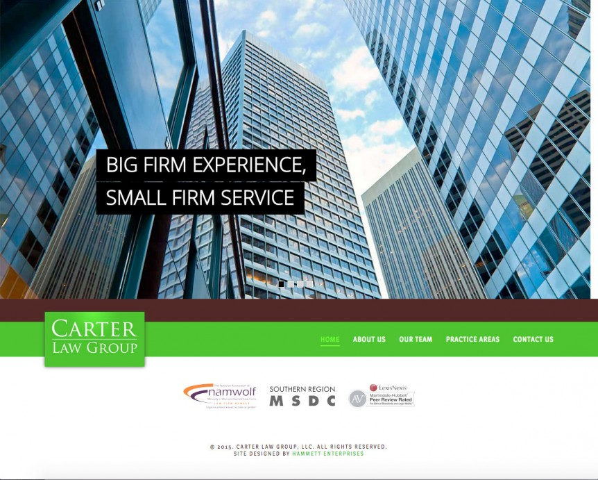Carter Law Group Website
