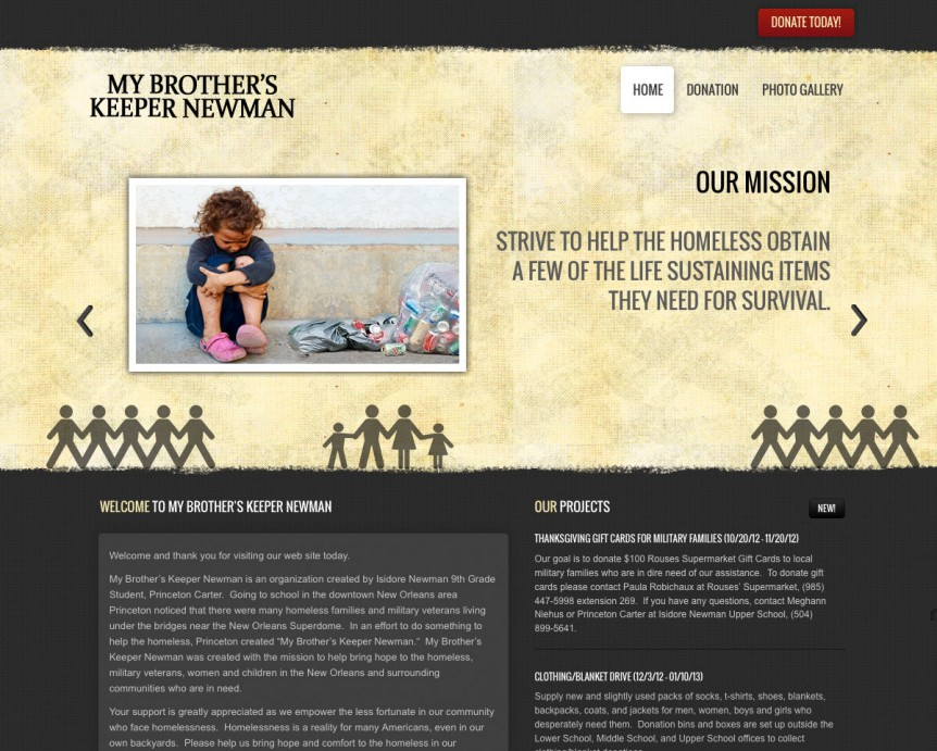My Brothers Keeper Newman Website